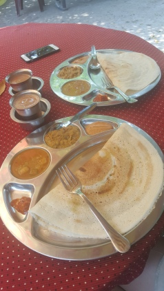Masala Dosa...Yum! Only 70 rupees, roughly 80p!
