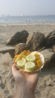 Masala cucumbers and pineapple!