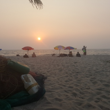 Sunset over the Arabian Gulf.