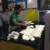 Man rolling Chappatis - he was so fast!