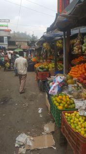 Streets of fruit stalls.