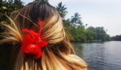 Flowers in her hair!