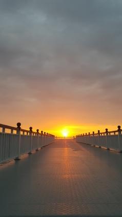 Sunset at Colombo Beach.