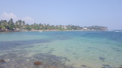 Turqouise waters at Mirissa Beach.