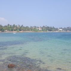 Turqouise waters at Mirissa Beach.