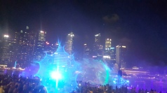 The light/music/water/firework show is truly impressive!
