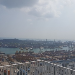 The port in Singapore