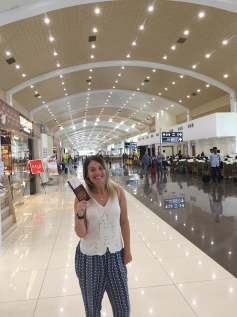 Leaving the ever so shiny Cochin Airport!