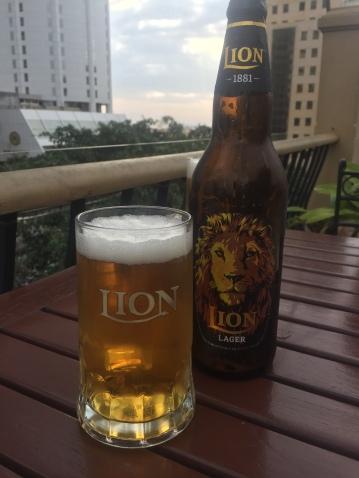 The national lager of Sri Lanka, Lion beer, not the best!