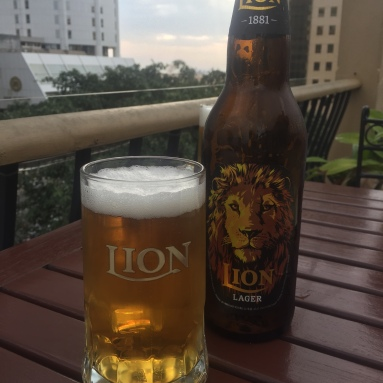 The national lager of Sri Lanka, Lion beer, not the best!