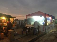 Night Market food stalls.