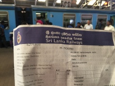 Ticket from Colombo Fort to Kandy, 560 rupees for us both, £2.57!!