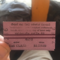 Ticket from Kandy to Ella.