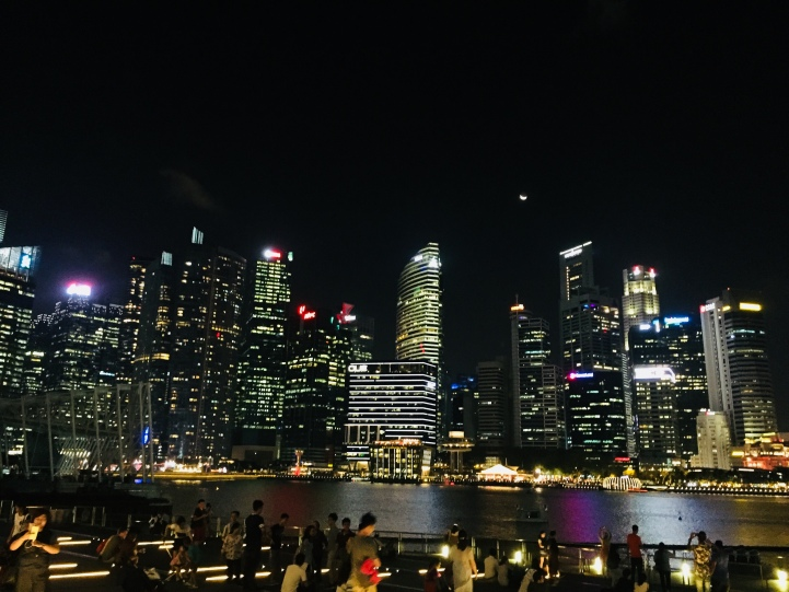 Night time in Singapore