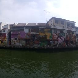 The river right along Malacca, such a beautiful spot.