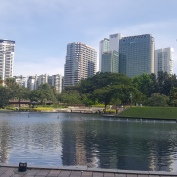 Nice park at the foot of The Petronas Towers.