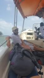 Boat ride across to Pulau Kapas.