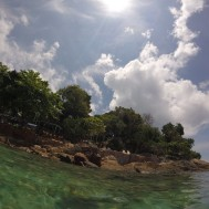 Sorry for the lame photos of our snorkelling trip...totally unprepared and the battery died!