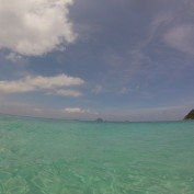 Crystal clear waters.