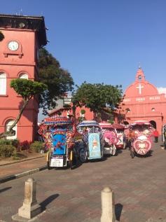 Christ Church, Malacca and a few Malaccan tuk tuks!