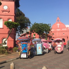Christ Church, Malacca and a few Malaccan tuk tuks!