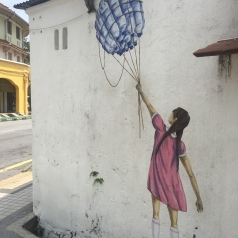 'Girl with the Floating Bottles Balloon'.