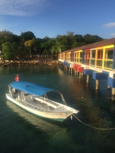 The colouful Pier on Coral Beach on Perhentian Kecil.