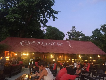 Movie night at Omabak restaurant, Coral Beach. Grab your popcorn and get comfy!