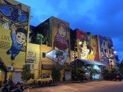 A lot of street art around the city.