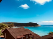 View from our beach hut.