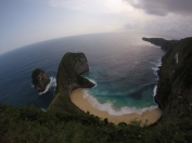 The absolutely breathtaking T-Rex shaped island.