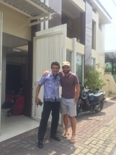 Mark with the owner from Jala Guesthouse.