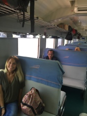Riding economy class, cheap and comfortable, even for a nine hour journey!