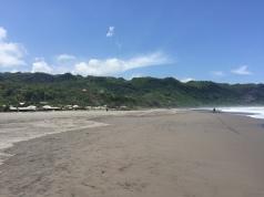 Volcanic beach.