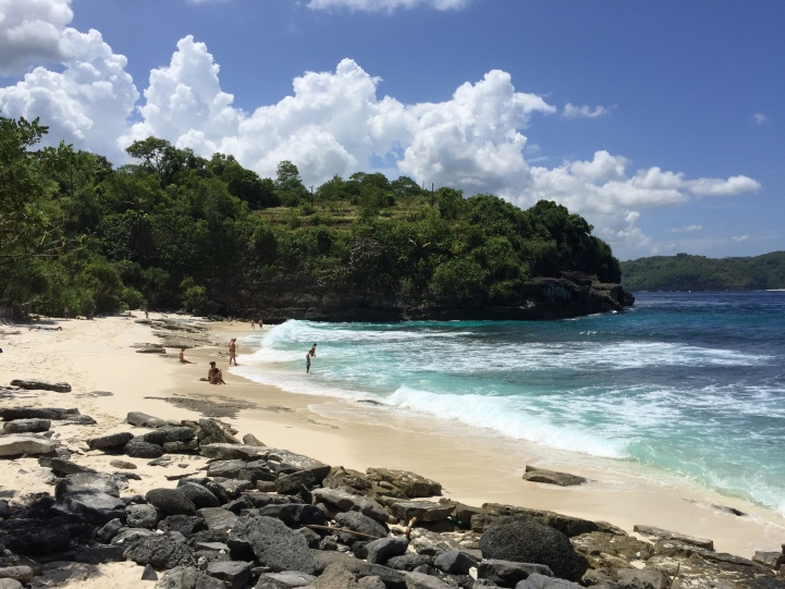 One of the many beautiful beaches you will find on Nusa Lembongan.