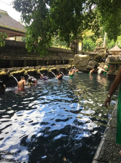 The Tirta Empul temple built in 962 AD is a place for spiritual self cleaning.
