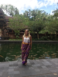 The sarongs you are given to enter some of the temples are beautiful.