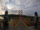 The yellow bridge connecting Nusa Lembongan and Nusa Ceningan.