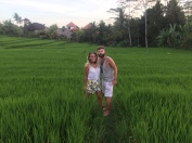 At the end of the Campuhan Ridge Walk, a lovely warung awaits amongst these fields.