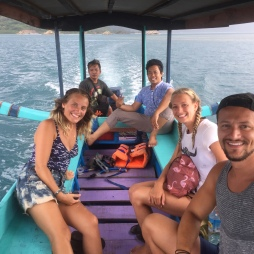 Our snorkelling trip with Nabil and our new friends from Switzerland and Macedonia.