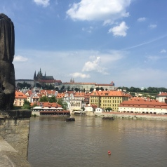 Crossing St.Charles bridge.