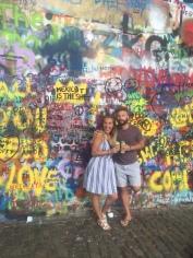 John Lennon memorial wall.