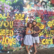 John Lennon memorial wall.