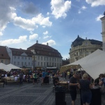 The main square in Sibiu.