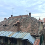 All of the houses in Sibiu look like they are watching you and telling stories between each other!