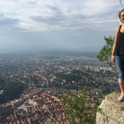 Birds eye view of Brasov.