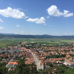 The view from Rasnov fortress.