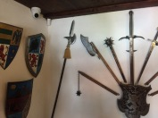 The armoury room at Bran Castle.