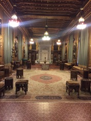 One of the many grand rooms in Peles Castle.