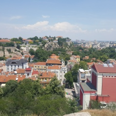 A view across to Plovdiv.